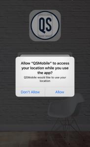 QSMobile location access - qsp mobile app