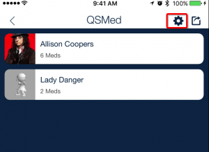configuring client mobile device for QSMED_mobile medication tracking app