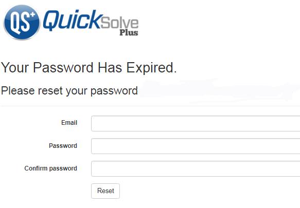 QSP reset password prompt