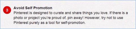 pinterest self promotion