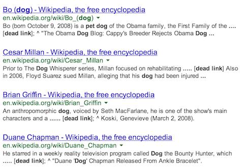 wikipedia dead link search