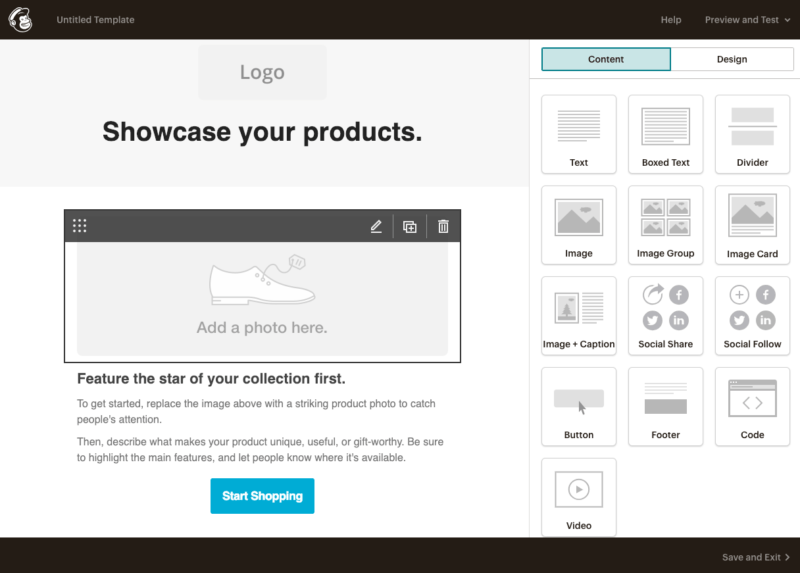 Editing a Mailchimp email template