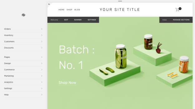 Squarespace website builder template editor user interface