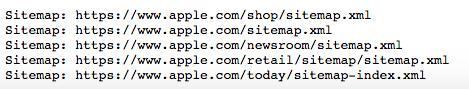 apple sitemap files