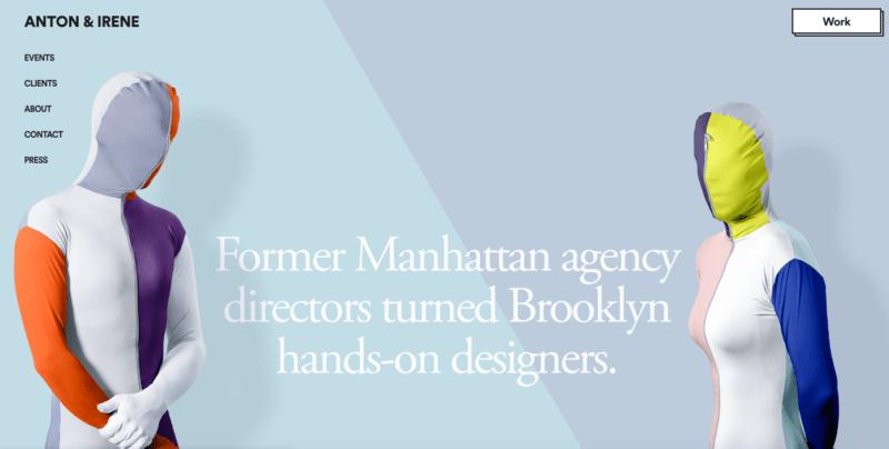 design agency website color palette 2019