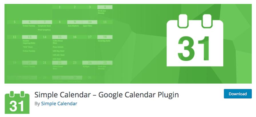 Simple Calendar - Google Calendar Plugin