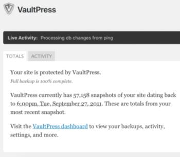VaultPress Stats