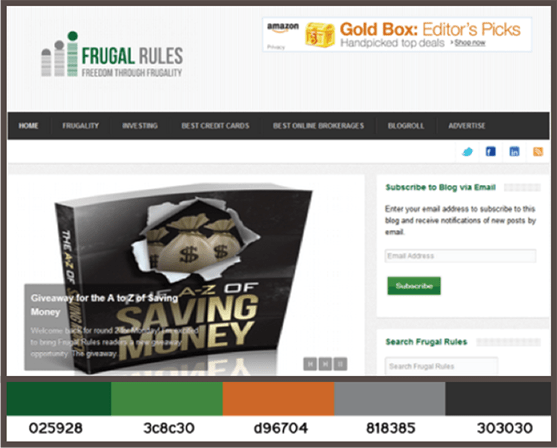 Finance Color Scheme Site