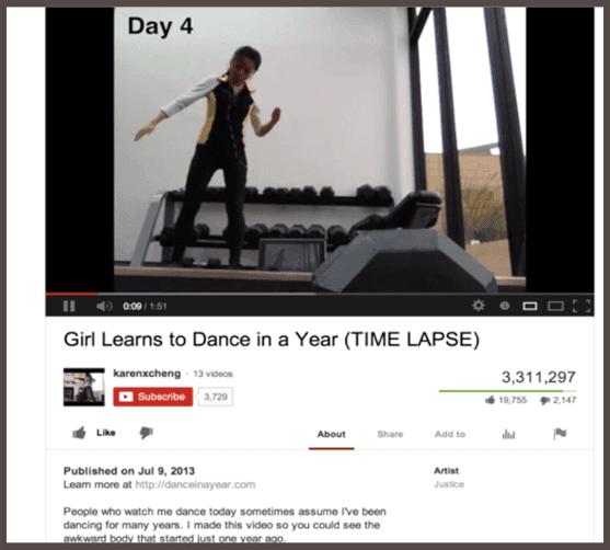 Dance in a Year YouTube