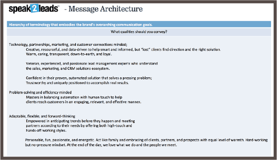Message Architecture Example