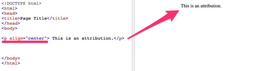 Attribution Example