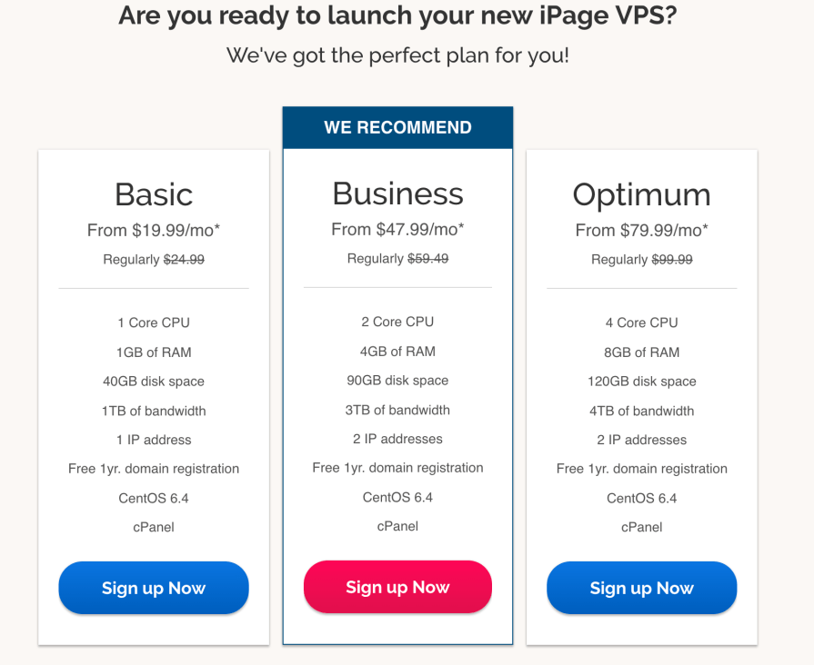 iPage VPS Hosting Plans