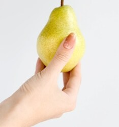 Hand with pear