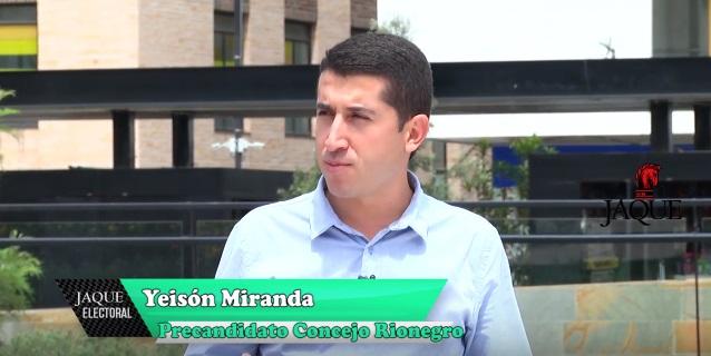 Jaque electoral Yeison Miranda, precandidato concejo Rionegro