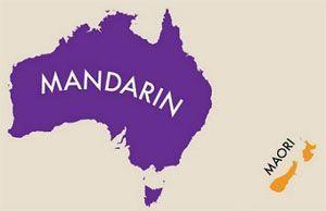 El Chino mandarín, el Maorí y el inglés en Oceanía
