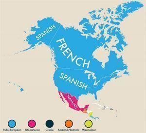 Lenguas cooficiales en América del Norte
