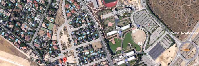 Ubicación Residencia Los Arcos