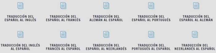 Combinaciones traducción idiomas