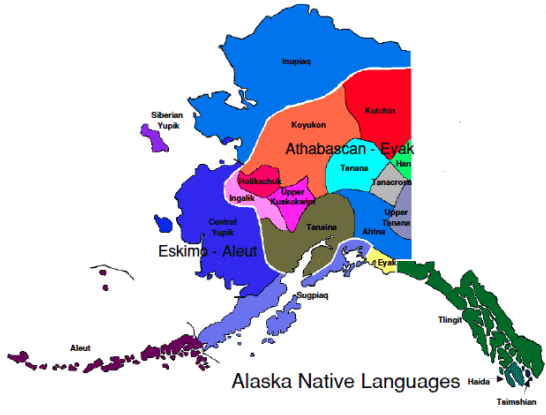 Lenguas nativas en Alaska