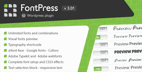 FontPress - Wordpress Font Manager. Potente Herramienta de ...