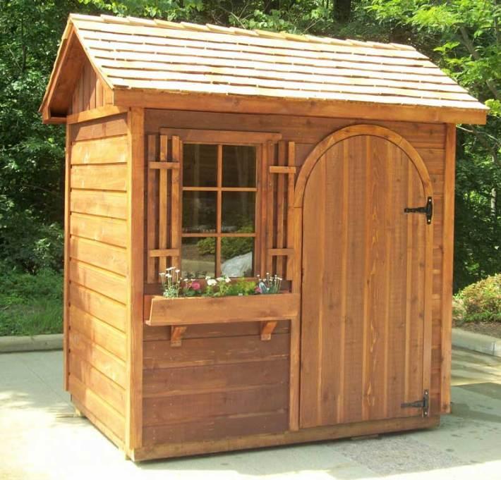 Quiet corner garden sheds ideas and photos quiet corner for Corner garden shed designs