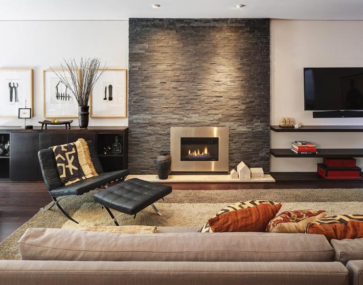 Stone Wall Home Design Ideas