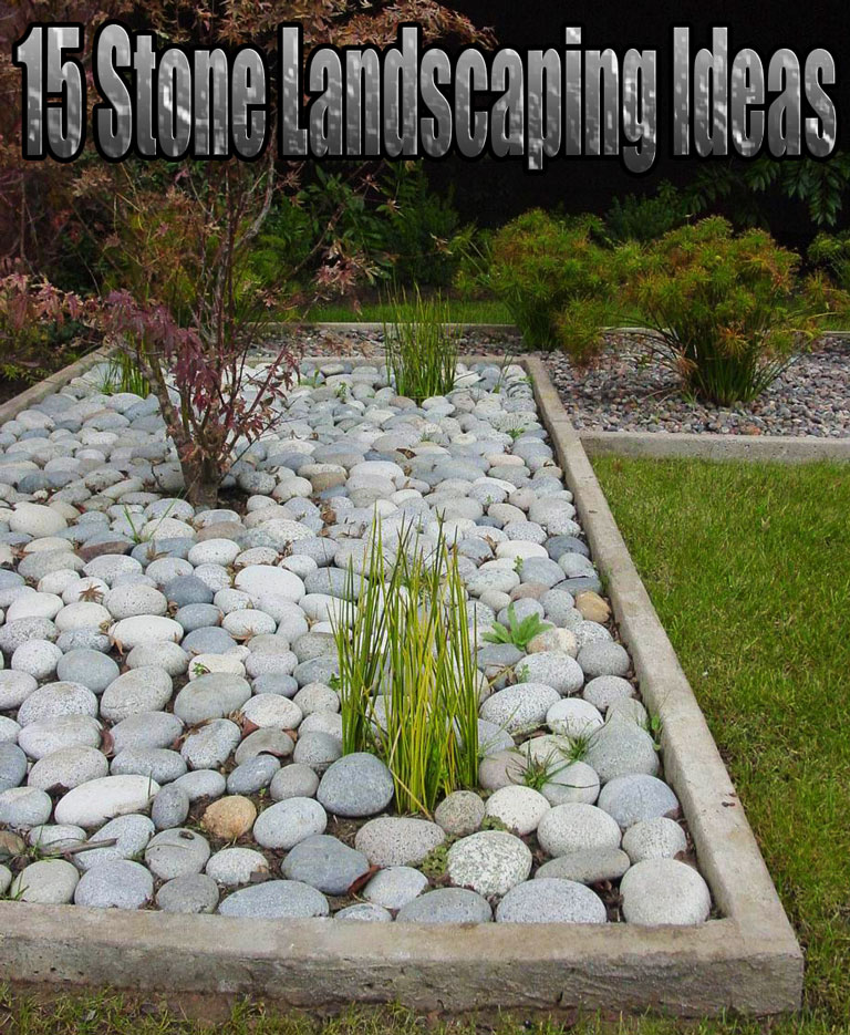 Quiet Corner Container Gardening Ideas: Quiet Corner:15 Stone Landscaping Ideas