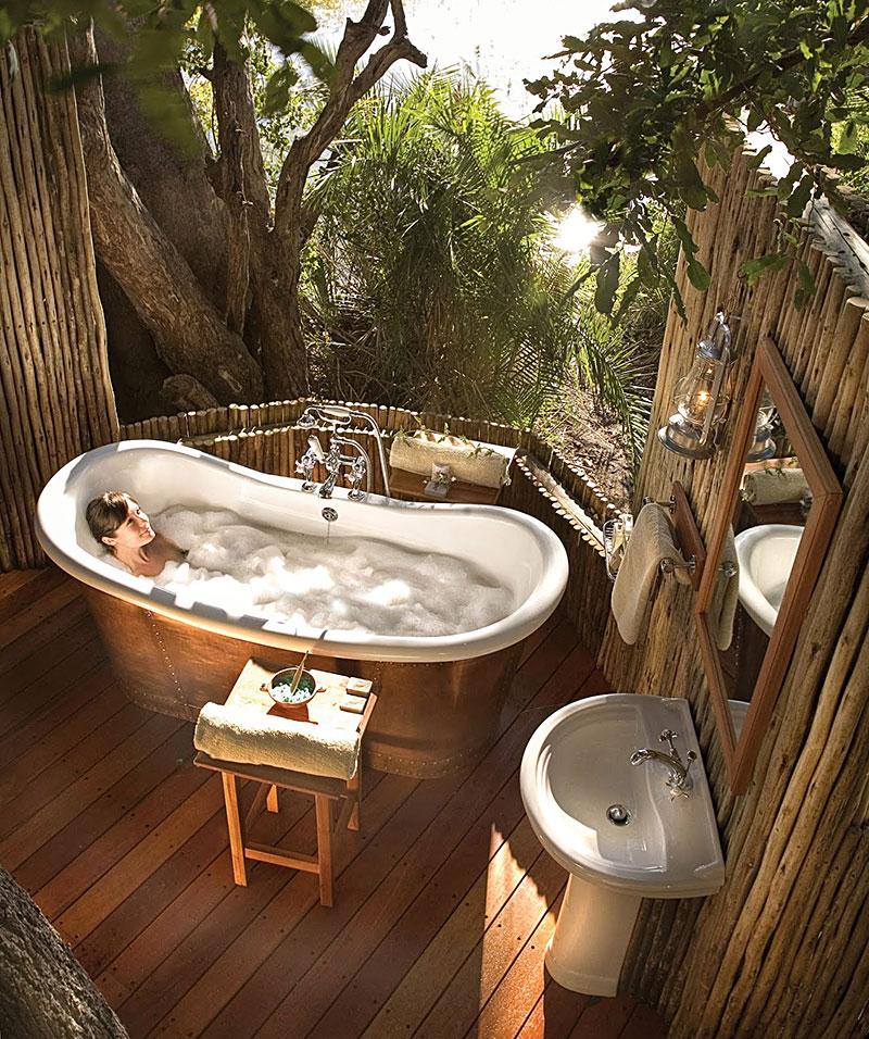 Beautiful Outdoor Bathroom Designs - Quiet Corner on Backyard Bathroom Ideas  id=95279