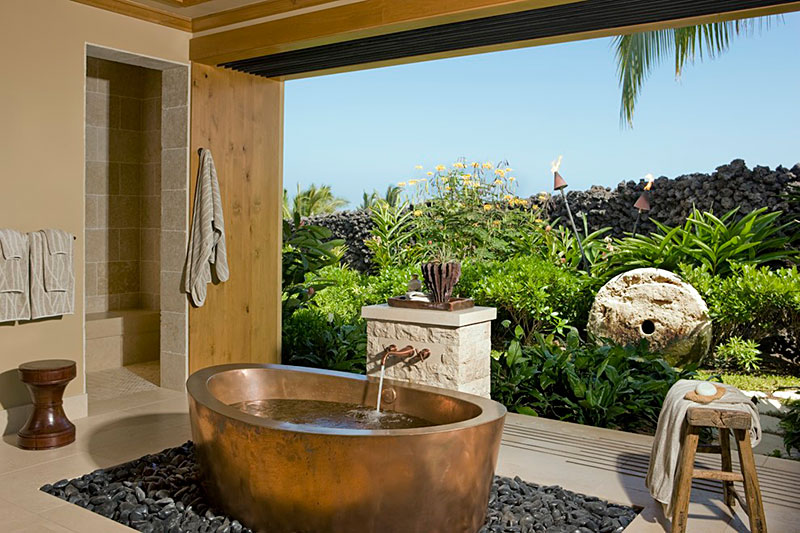 Beautiful Outdoor Bathroom Designs - Quiet Corner on Backyard Bathroom Ideas  id=15606