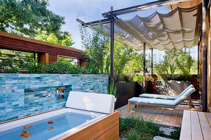 Beautiful Outdoor Bathroom Designs - Quiet Corner on Backyard Bathroom Ideas  id=15894