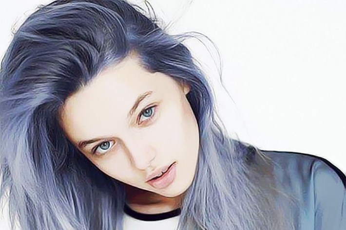 Latest Hair Color Trend- Denim Hair