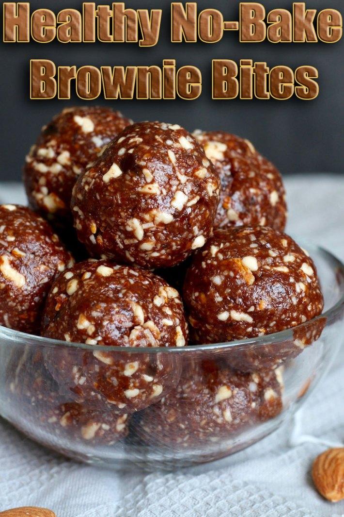 Healthy No-Bake Brownie Bites
