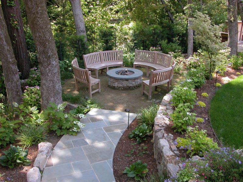 Outdoor Fire Pit Seating Ideas - Quiet Corner on Back Garden Seating Area Ideas id=15990