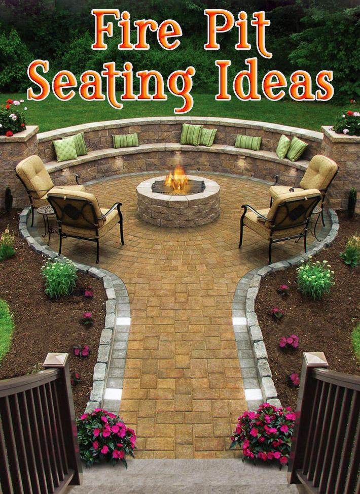 Quiet Corner:Outdoor Fire Pit Seating Ideas - Quiet Corner on Garden Ideas With Fire Pit id=57621