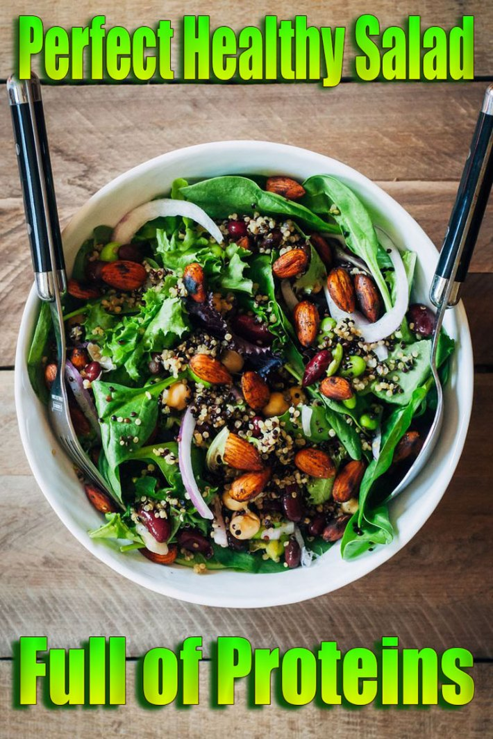 Perfect Healthy Salad Full of Proteins