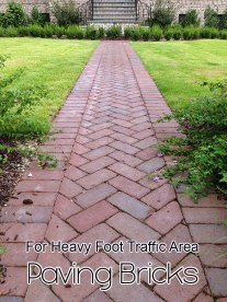 Paving Bricks - For Heavy Foot Traffic Area