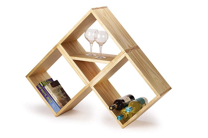 Easy DIY Bookshelf & Wine Rack - Quiet Corner