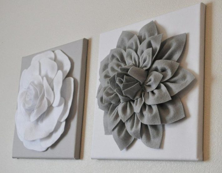 3D Felt Flower Wall Art DIY Tutorial m (2)