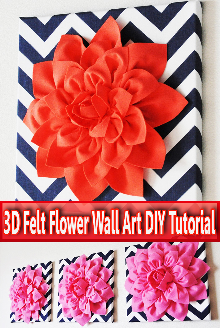 3D Felt Flower Wall Art DIY Tutorial - Quiet Corner