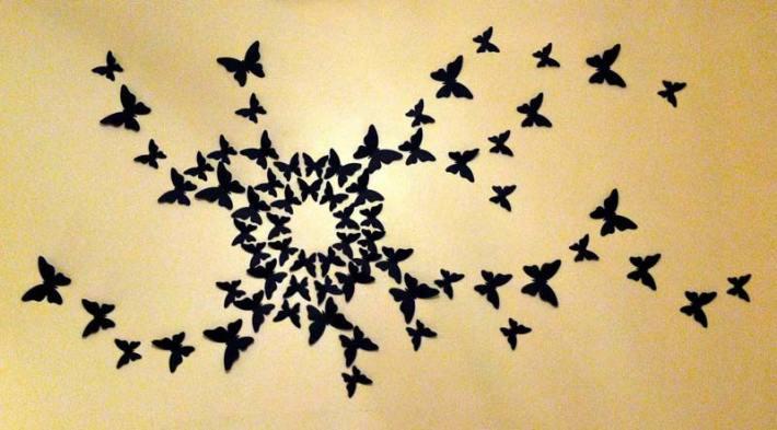 Butterfly Pattern Wall Decor s (3)