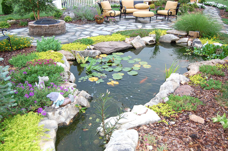 Inspiring Backyard Pond Ideas - Quiet Corner on Backyard Pond Landscaping Ideas  id=80495