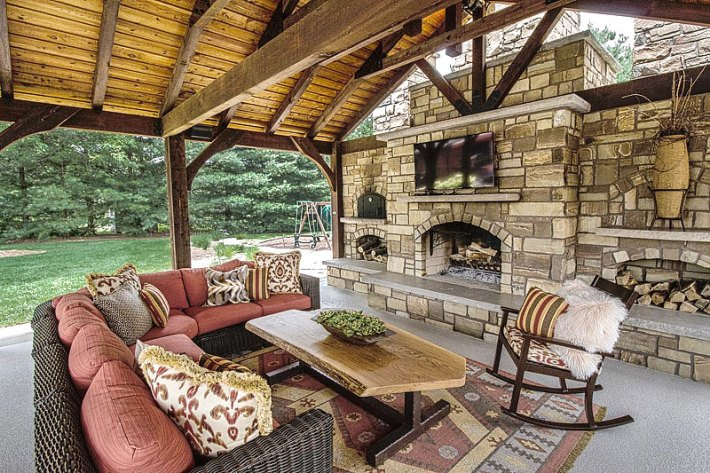 Quiet Corner:Inspiring Outdoor Fireplace Ideas - Quiet Corner on Outdoor Fireplaces Ideas  id=73878