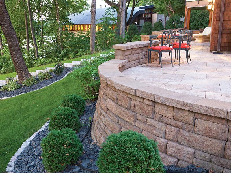 Inspiring Retaining Walls Ideas - Quiet Corner on Patio Stone Wall Ideas  id=66252