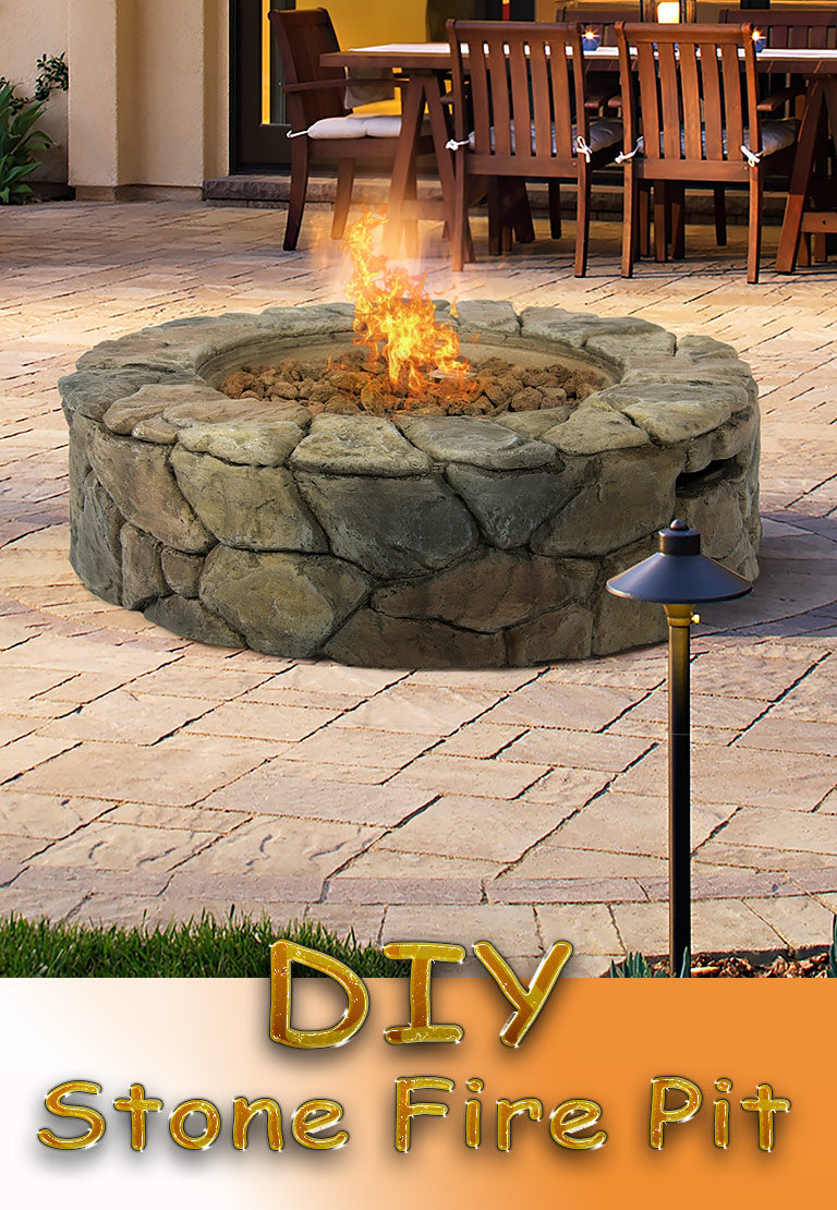 DIY - Stone Fire Pit for Your Garden - Quiet Corner