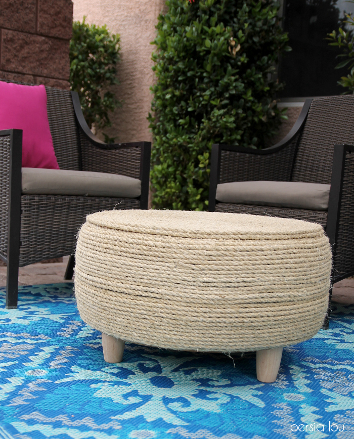 DIY Recycled Tire Coffee Table