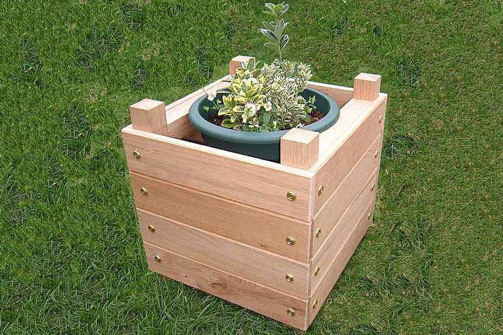 DIY - Simple Chunky Wooden Planter - Quiet Corner