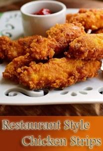 Restaurant Style Chicken Strips Recipe