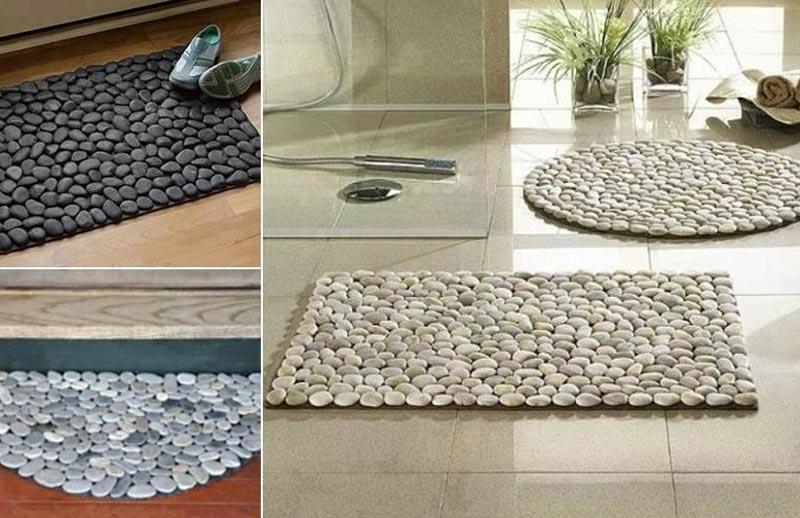 Quiet corner diy river stone doormat quiet corner for River stone doormat