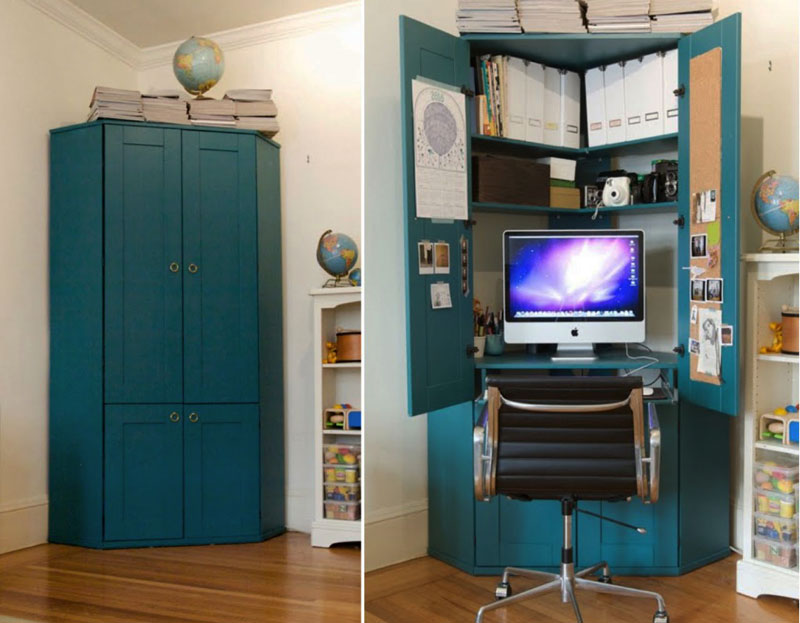 turn closet home office. turn your closet into a home office