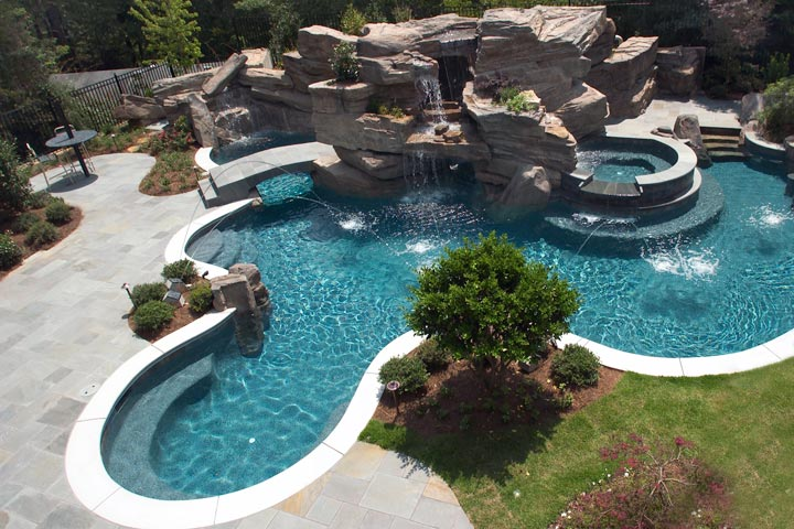 Elegant Free Form Pool Designs Ideas